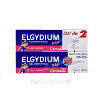 Elgydium Kids Protection Caries Gel Dentifrice Grenadine 2-6ans 2 T/50ml à TOULOUSE