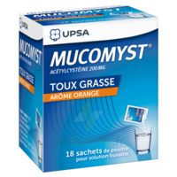 MUCOMYST 200 mg Poudre pour solution buvable en sachet B/18 à TOULOUSE