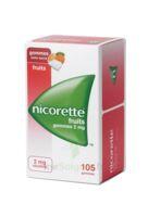 Nicorette 2 mg Gomme à mâcher médicamenteuse sans sucre fruits Plq/105 à TOULOUSE