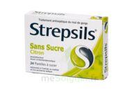 STREPSILS CITRON SANS SUCRE, pastille édulcorée à l'isomalt, au maltitol et à la saccharine sodique à TOULOUSE