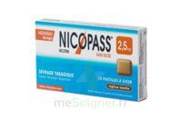 Nicopass 2,5 mg Pastille menthe fraîcheur sans sucre Plq/12 à TOULOUSE