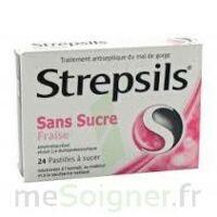 STREPSILS FRAISE SANS SUCRE, pastille édulcorée à l'isomalt, au maltitol et à la saccharine sodique à TOULOUSE