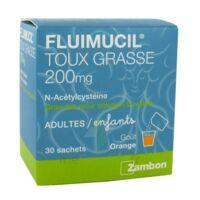 FLUIMUCIL EXPECTORANT ACETYLCYSTEINE 200 mg SANS SUCRE, granulés pour solution buvable en sachet édulcorés à l'aspartam et au sorbitol à TOULOUSE