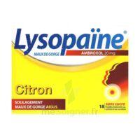 LYSOPAÏNE MAUX DE GORGE AMBROXOL CITRON 20 mg SANS SUCRE, pastille édulcorée au sorbitol et au sucralose à TOULOUSE