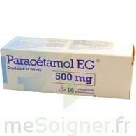 PARACETAMOL EG 500 mg, comprimé à TOULOUSE