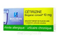 CETIRIZINE BIOGARAN CONSEIL 10 mg, comprimé pelliculé sécable à TOULOUSE