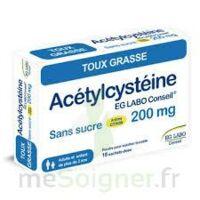 ACETYLCYSTEINE EG LABO CONSEIL 200 mg SANS SUCRE, poudre pour solution buvable en sachet-dose à TOULOUSE