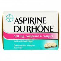ASPIRINE DU RHONE 500 mg, comprimé à croquer Film thermos/20 à TOULOUSE