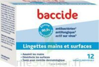 Baccide Lingette désinfectante mains & surface 12 Pochettes