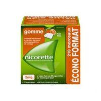 Nicorette 2 mg Gomme à mâcher médicamenteuse sans sucre fruits Plq/210 à TOULOUSE