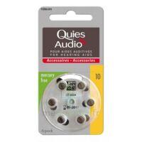Quies Audio Pile Auditive Modèle 10 Plq/6 à TOULOUSE