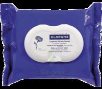 Klorane Soins des Yeux au Bleuet Lingette démaquillante biodégradable Pack/25 à TOULOUSE
