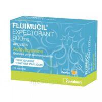 FLUIMUCIL EXPECTORANT ACETYLCYSTEINE 600 mg Glé s buv adultes 10Sach à TOULOUSE