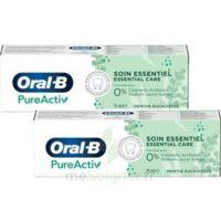 Oral B Pureactiv Dentifrice Soin Essentiel 2t/75ml